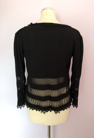 St Ambecco Black Tie Front Cardigan Size L - Whispers Dress Agency - Womens Knitwear - 2