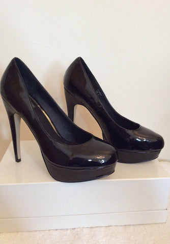 Brand New Kitch Couture Black Patent Platform High Heels Size 7/40 - Whispers Dress Agency - Womens Heels - 2
