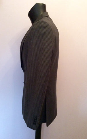 Brand New Jaeger Grey Pinstripe 'Mayfair' Wool Suit Jacket Size 40R - Whispers Dress Agency - Mens Suits & Tailoring - 3