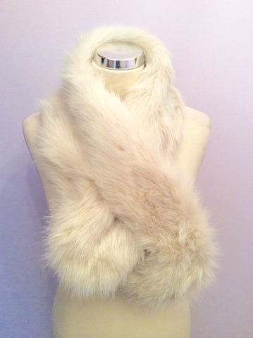 Brand New Per Una Cream Faux Fur Scarf - Whispers Dress Agency - Womens Scarves & Wraps - 1