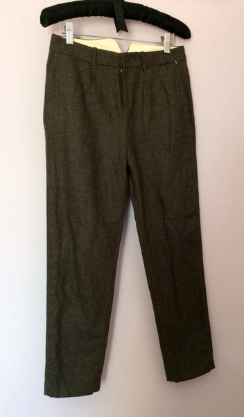 BRAND NEW ALL SAINTS BROWN LOUVRE CROP TROUSERS SIZE 6 - Whispers Dress Agency - Sold - 1