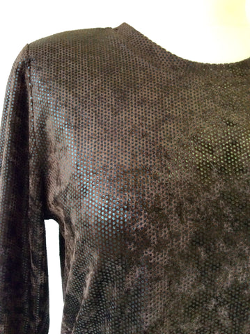 BETTY BARCLAY BROWN SPARKLE LONG SLEEVE TOP SIZE M - Whispers Dress Agency - Womens Tops - 2