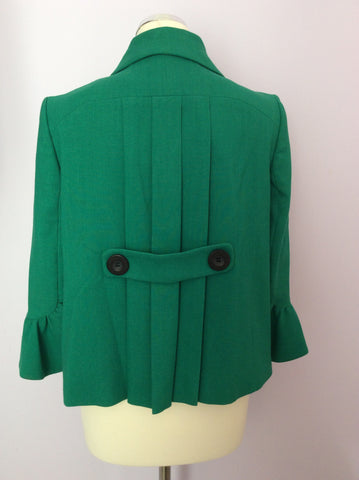 Betty Jackson Emerald Green Jacket Size 10 - Whispers Dress Agency - Womens Coats & Jackets - 3