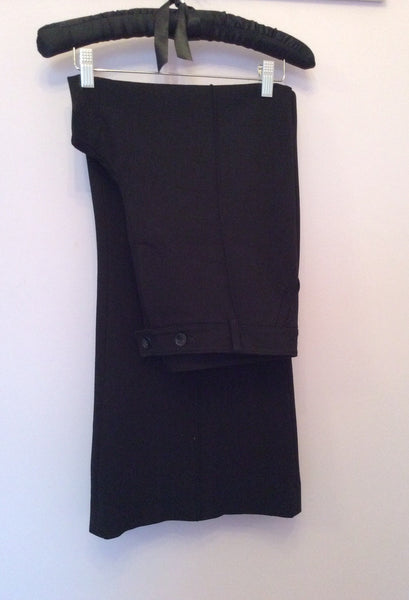 Hobbs Black Formal Wide Leg Trousers Size 14 - Whispers Dress Agency - Womens Trousers - 1