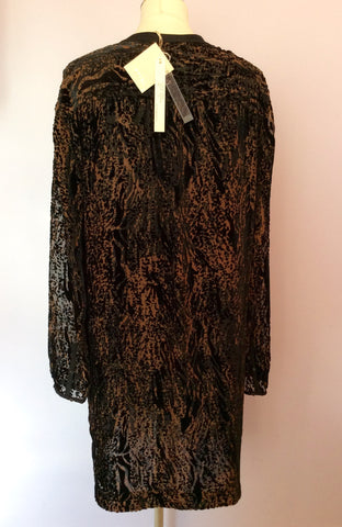 Brand New Nougat Brown & Black Print Tunic Top Size 5 UK L/XL - Whispers Dress Agency - Womens Tops - 3