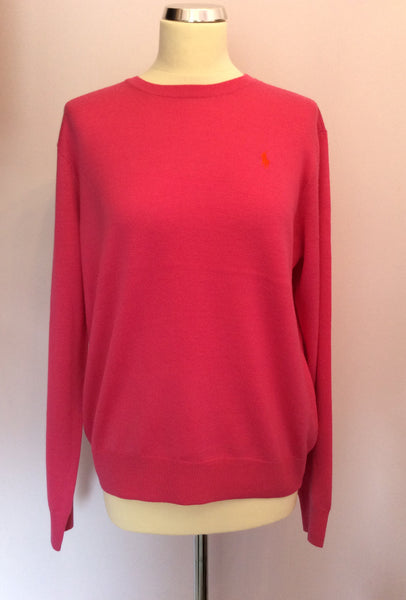 BNWT Ralph Lauren Polo Golf Belmont Pink Wool Jumper Size XL - Whispers Dress Agency - Sold - 1