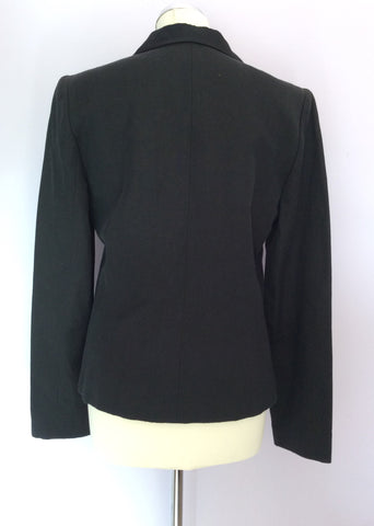 Joseph Black Linen & Cotton Evening Jacket Size L - Whispers Dress Agency - Womens Coats & Jackets - 2