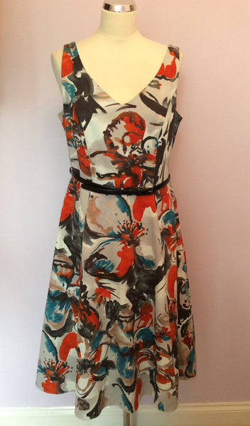 Betty Jackson Black Multi Coloured Print Dress Size 14 - Whispers Dress Agency - Sold - 1