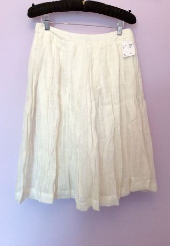 Brand New Jesire Winter White Linen Skirt Size 6 - Whispers Dress Agency - Womens Skirts - 1