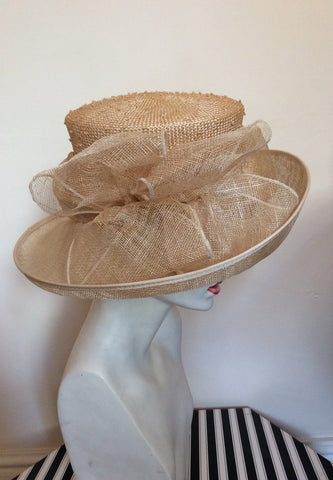 Brand New Straw Bow Trim Formal Hat - Whispers Dress Agency - Womens Formal Hats & Fascinators - 2
