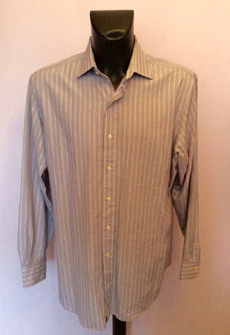 "Polo By Ralph Lauren Polo Purple Striped Shirt Size 17"" - Whispers Dress Agency - Mens Formal Shirts - 1"