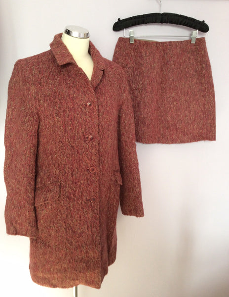Kew Terracotta Coat Wool And Mini Skirt Size 10 - Whispers Dress Agency - Sold - 1