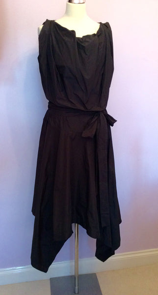 Brand New Vivienne Westwood Black Taffeta Cocktail / Occasion Dress Size 44 UK 16 - Whispers Dress Agency - Sold - 1