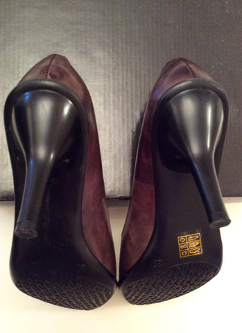 Brand New Moda In Pelle Brown Leather Heels Size 4/37 - Whispers Dress Agency - Womens Heels - 4