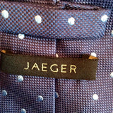 Jaeger Blue Spot Silk Tie - Whispers Dress Agency - Sold - 2