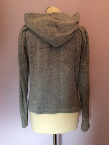 Juicy Couture Light Grey Velour Hooded Top Size XL - Whispers Dress Agency - Womens Activewear - 2