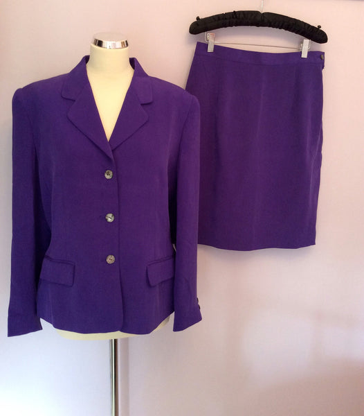 Brand New August Silk Sport Purple Silk Skirt Suit Size L - Whispers Dress Agency - Womens Suits & Tailoring - 1