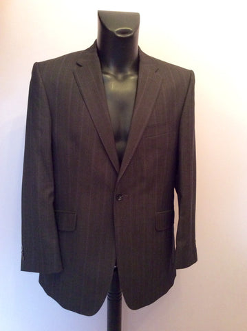 Studio By Jeff Banks Dark Charcoal Grey Pinstripe Wool Suit Size 40/34 Short - Whispers Dress Agency - Mens Suits & Tailoring - 2