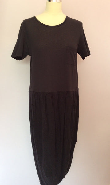 Cos Black Cotton Top & Wrap Around Linen Skirt Dress Size M - Whispers Dress Agency - Sold - 1