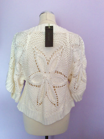 Brand New Mint Velvet White Short Sleeve Cardigan Size M - Whispers Dress Agency - Womens Knitwear - 3