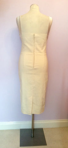 BRAND NEW DIVA CREAM SATIN TRIM WIGGLE PENCIL DRESS SIZE L - Whispers Dress Agency - Womens Dresses - 4