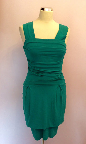 Gorgeous Couture Green Stretch Mini Dress Size S - Whispers Dress Agency - Womens Dresses - 1