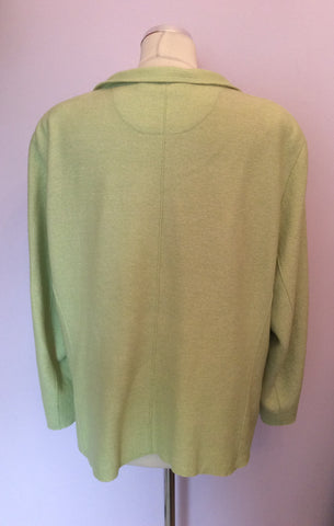 ARTIGIANO LIGHT GREEN WOOL BLEND JACKET SIZE 20 - Whispers Dress Agency - Womens Coats & Jackets - 3