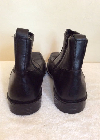 Brand New Bond Street Black Leather Ankle Boots Size 10 / 44.5 - Whispers Dress Agency - Mens Boots - 4