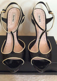 Brand New Miu Miu Black Patent Leather Heels Size 7.5/41 - Whispers Dress Agency - Sold - 2