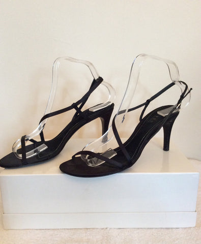 Ralph Lauren Black Satin Strappy Sandals Size 6/39 - Whispers Dress Agency - Sold - 4