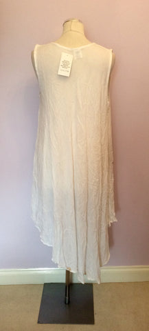 BRAND NEW SAHIBA WHITE SUMMER DRESS ONE SIZE - Whispers Dress Agency - Womens Dresses - 3