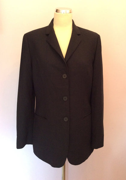 TED BAKER ENDURANCE BLACK WOOL JACKET SIZE 12 - Whispers Dress Agency - Womens Suits & Tailoring - 1
