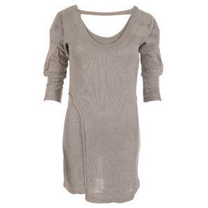 All Saints Amoris Grey & Gold Glitter Top/Dress Size XS - Whispers Dress Agency - Womens Tops - 1