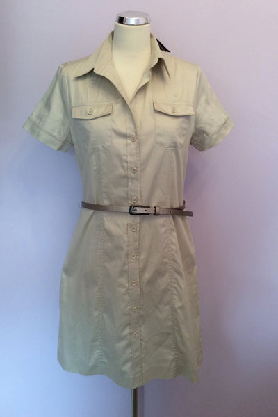 Brand New Marks & Spencer Autograph Beige Shirt Dress Size 14 - Whispers Dress Agency - Sold - 1