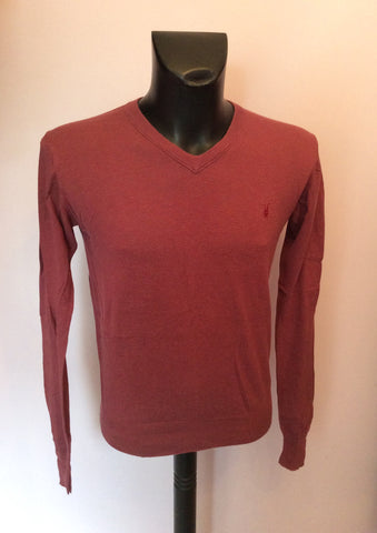 All Saints Corels Plum V Neck Jumper Size M - Whispers Dress Agency - Mens Knitwear - 1