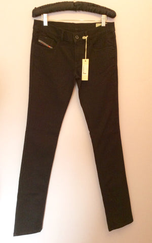 Brand New Diesel Black Livy Super Slim Straight Jeans Size 28W/32L - Whispers Dress Agency - Womens Jeans - 1