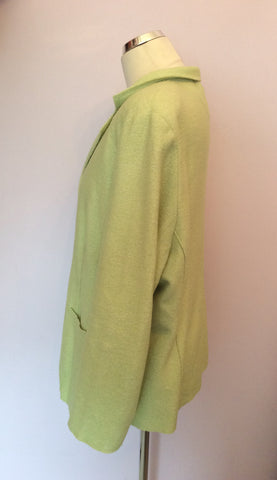 ARTIGIANO LIGHT GREEN WOOL BLEND JACKET SIZE 20 - Whispers Dress Agency - Womens Coats & Jackets - 2