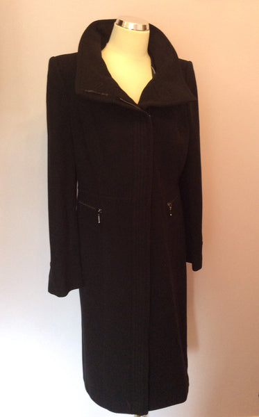Planet Black Wool Blend Coat Size 12 - Whispers Dress Agency - Sold - 1