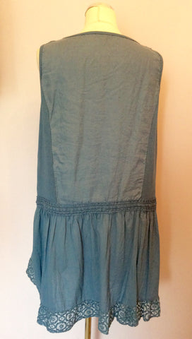 BRAND NEW MADE IN ITALY BLUE LINEN TUNIC TOP SIZE XL - Whispers Dress Agency - Womens Tops - 3