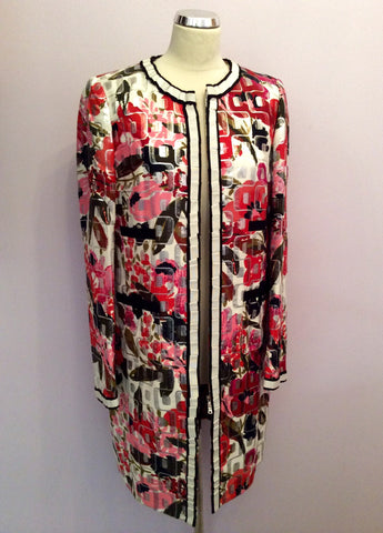 Brand New Dolce & Gabbana Multi Print Coat Size 46 Uk 14 - Whispers Dress Agency - Womens Coats & Jackets - 1