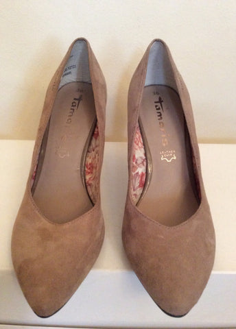 Brand New Tamaris Beige Suede Court Shoes Size 3.5/36 - Whispers Dress Agency - Womens Heels - 3