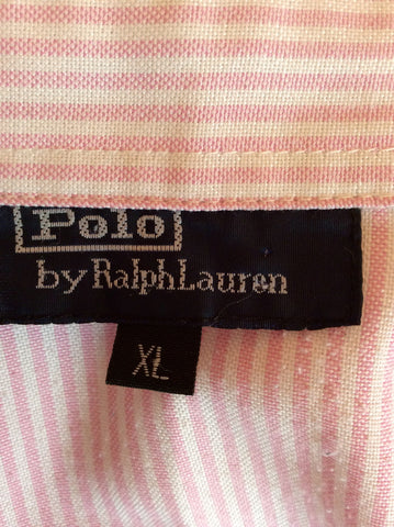 Polo By Ralph Lauren Pink & White Stripe Cotton Shirt Size XL - Whispers Dress Agency - Sold - 3
