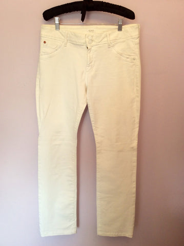 HUDSON WHITE 'BETH' BABY BOOT LEG JEANS SIZE 32W/33L - Whispers Dress Agency - Womens Jeans - 1