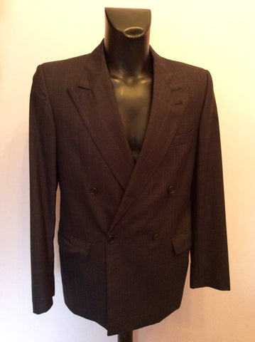 JAEGER CHARCOAL GREY CHECK WOOL SUIT SIZE 40R/36W - Whispers Dress Agency - Mens Suits & Tailoring - 2