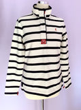 Joules Black & White Stripe Cotton Top Size 12/M - Whispers Dress Agency - Sold - 1