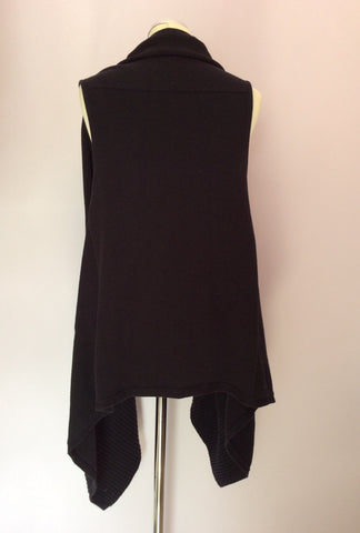 Betty Barclay Black Sleeveless Cardigan Size 14 - Whispers Dress Agency - Womens Knitwear - 3