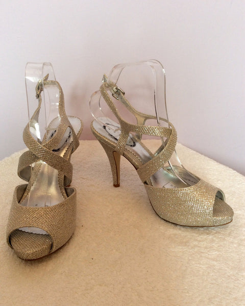 Brand New Debut Silver Sparkle Heeled Sandals Size 6/39 - Whispers Dress Agency - Sold - 1
