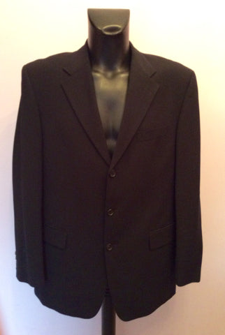 Hugo Boss Black Wool Suit Jacket Size 42 - Whispers Dress Agency - Mens Suits & Tailoring - 1
