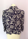 Hobbs Purple & Ivory Linen Print Jacket Size 14 - Whispers Dress Agency - Sold - 3