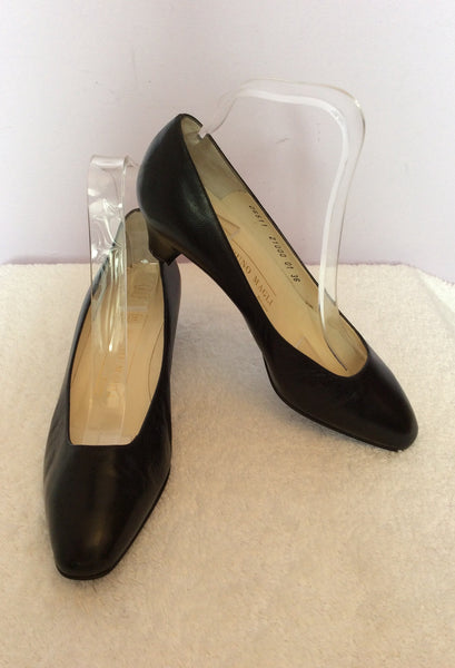Vintage Bruno Magli Black Italian Leather Court Shoes Size 3.5 /36 - Whispers Dress Agency - Sold - 1